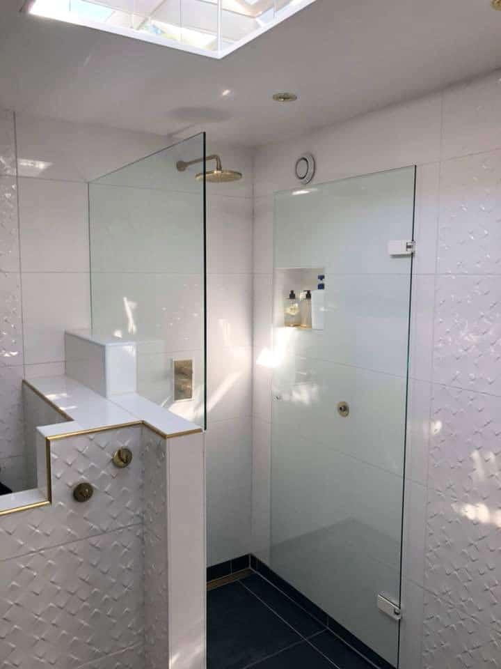 Glasvægge på badeværelset
